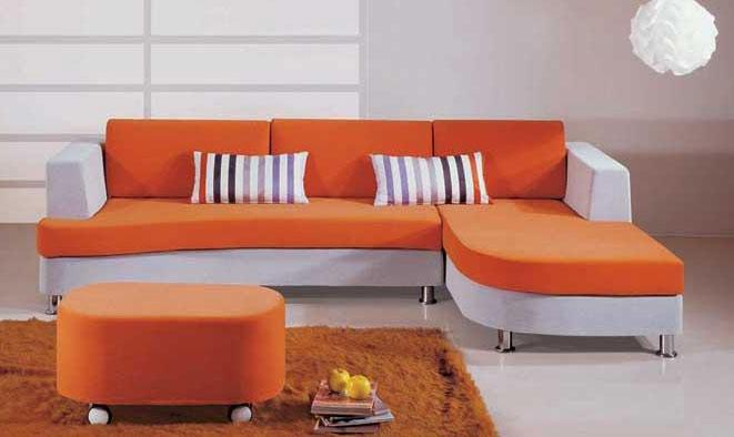 Hình ảnh cho bộ bàn ghế sofa phòng khách nhỏ màu cam tuyệt đẹp cho phòng khách gia đình