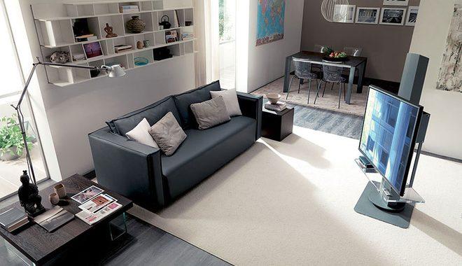 Hình ảnh cho mẫu sofa văng mini giá rẻ màu đen hiện đại và tinh tế