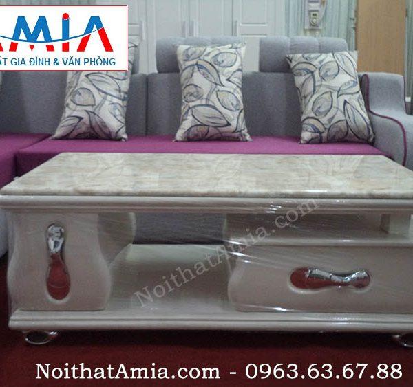Hình ảnh đại diện bàn trà gỗ mặt đá đế inox