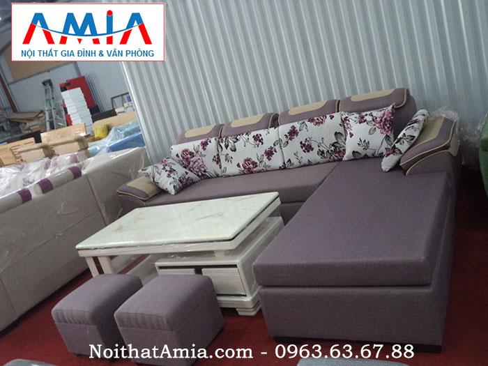 Hình ảnh cho mẫu sofa nỉ phòng khách đẹp vừa hiện đại vừa sang trọng và tinh tế