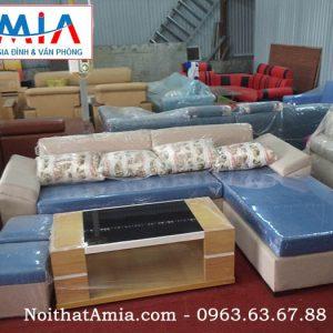 Mua ghế sofa nỉ màu xanh da trời trẻ trung hiện đại