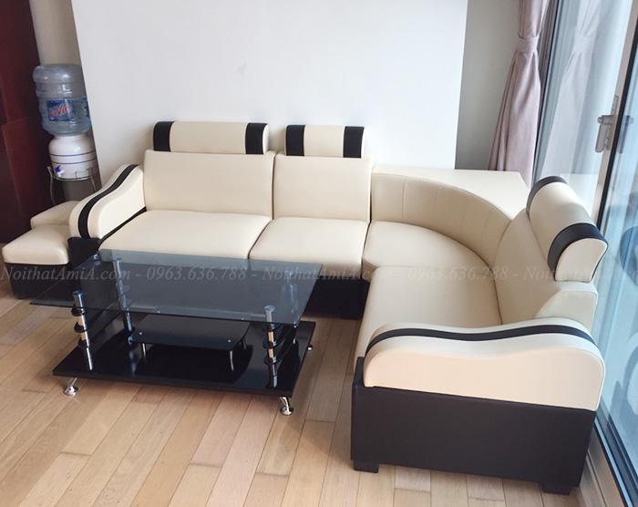 Hình ảnh Mẫu ghế sofa rẻ đẹp Hà Nội chụp tại nhà khách hàng