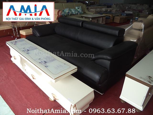 Hình ảnh cho mẫu ghế sofa văng da màu đen đẹp hiện đại cho không gian phòng khách đẹp