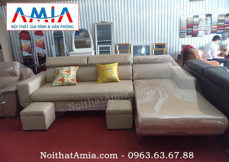 Hình ảnh cho mẫu sofa da phòng khách đẹp hiện đại tại Nội thất AmiA