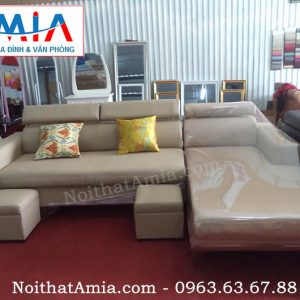 Hình ảnh cho bộ ghế sofa da phòng khách hiện đại, sang trọng cho không gian phòng khách đẹp