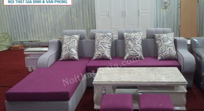 Hình ảnh cho mẫu sản phẩm sofa nỉ đẹp kết hợp bàn trà đá cao cấp