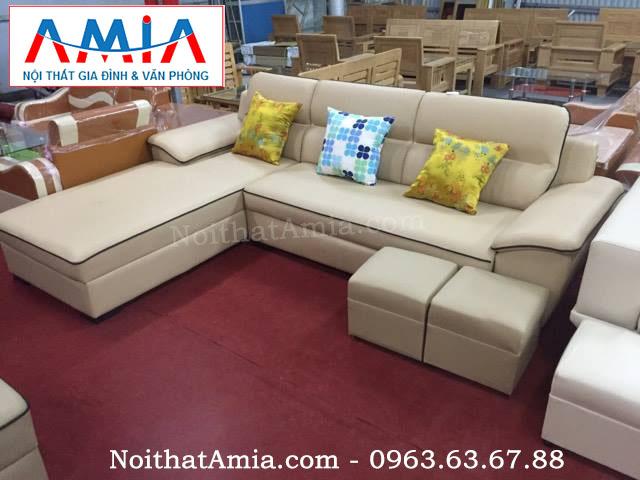 Hình ảnh cho mẫu ghế sofa da phòng khách sang trọng, hiện đại và trẻ trung
