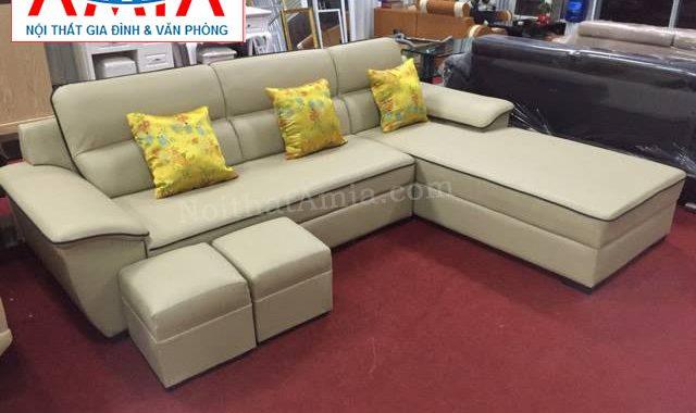 Hình ảnh cho mẫu sofa cao cấp giá bình dân với chất liệu da đẹp, hiện đại và chất lượng