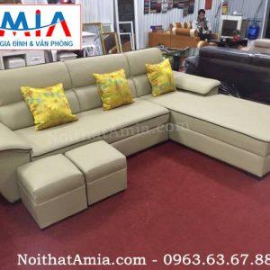 Hình ảnh cho mẫu sofa da phòng khách đẹp với thiết kế hiện đại