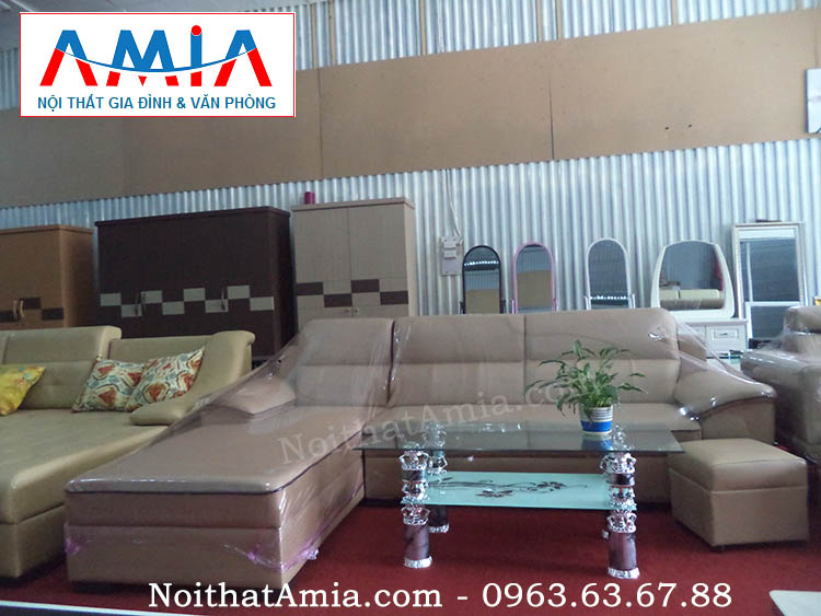 Hình ảnh cho mẫu sofa da phòng khách đẹp cho căn hộ chung cư