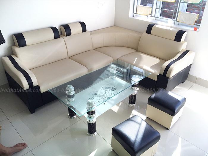 Hình ảnh Sofa đẹp giá rẻ Hà Nội chụp tại phòng khách gia đình