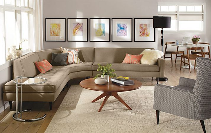 Hình ảnh cho mẫu bàn ghế sofa phòng khách với thiết kế dạng cung tròn đẹp hiện đại