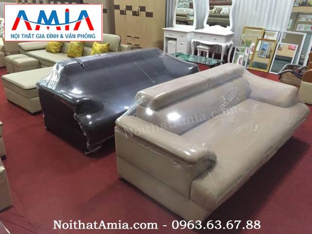 Hình ảnh cho mẫu sofa văng da màu trắng đẹp hiện đại với chất liệu da nhập khẩu cao cấp
