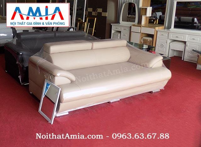 Hình ảnh cho mẫu sofa văng da màu trắng cao cấp tại Nội thất AmiA