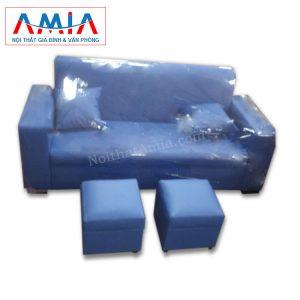 Ảnh đại diện Sofa văng da 1m8 màu xanh da trời SFV059