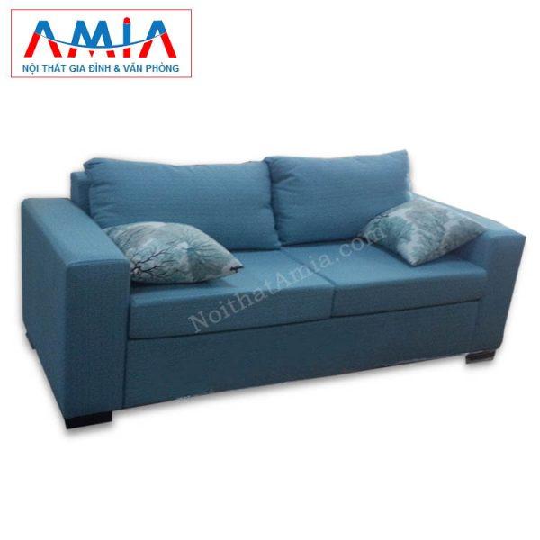 Hình ảnh cho mẫu sản phẩm sofa văng vải nỉ đẹp màu xanh da trời