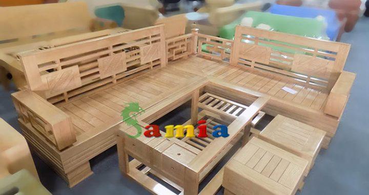 Hình ảnh cho mẫu sofa gỗ góc đẹp hiện đại cho không gian phòng khách sang trọng