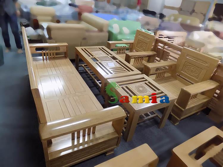 Hình ảnh cho mẫu bàn ghế gỗ phòng khách được thiết kế với phong cách hiện đại, trẻ trung