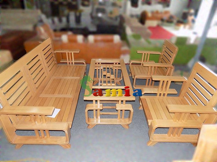 Hình ảnh cho bộ bàn ghế sofa gỗ phòng khách đẹp mê ly