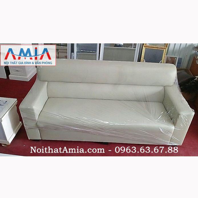 Mẫu Sofa Văng Da Màu Trắng Sữa Vừa đẹp Vừa Hiện đại Amia Sfv086