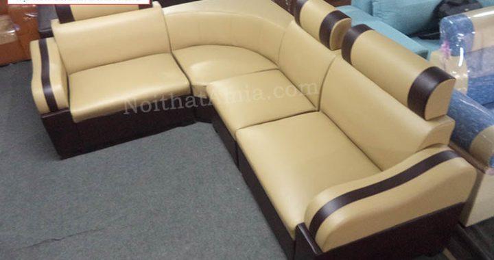 Sofa da góc chụp thực tế tại kho AmiA giá rẻ chất lượng
