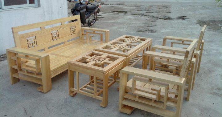 Hình ảnh cho mẫu bàn ghế sofa gỗ Sồi vừa đệp vừa hiện đại lại bền bỉ và chất lượng