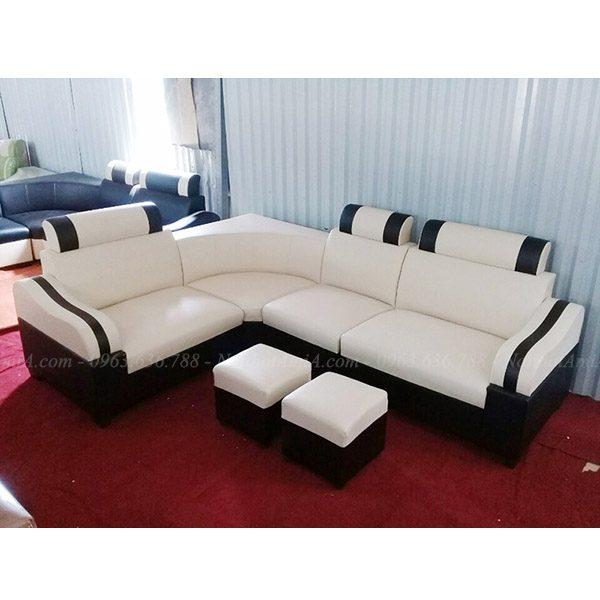 Hình ảnh Mẫu sofa đẹp giá rẻ màu trắng chụp tại Tổng kho AmiA