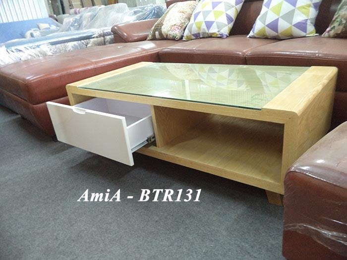 Hình ảnh cho mẫu bàn trà sofa đẹp với mặt gỗ kết hợp kính cường lực