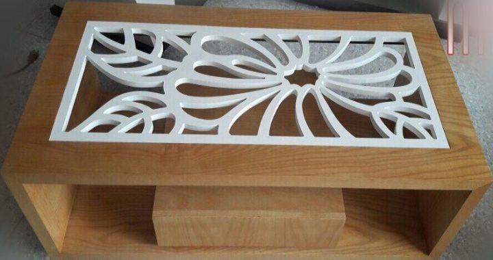 Hình ảnh cho mẫu bàn trà gỗ đẹp hiện đại với thiết kế mặt bàn độc đáo, mới lạ và đầy sáng tạo