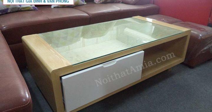 Hình ảnh chobàn trà gỗ kết hợp mặt kính đẹp cho không gian căn phòng đẹp