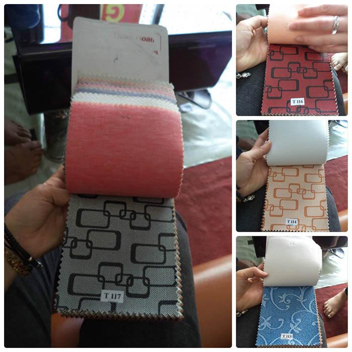 Hình ảnh cho màu sắc và chất liệu mẫu của bộ bàn ghế sofa phòng khách nhỏ