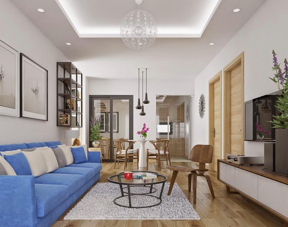 Hình ảnh cho sofa phòng khách nhỏ với thiết kế dạng văng hiện đại cho không gian phòng khách hẹp