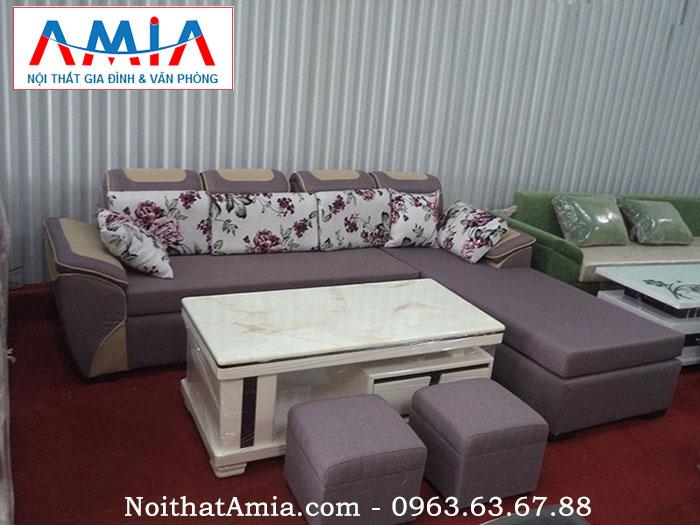 Hình ảnh cho bộ sofa phòng khách với chất liệu nỉ cao cấp cho không gian phòng khách hiện đại