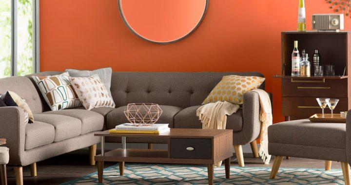 Hình ảnh cho mẫu ghế sofa nhỏ dạng góc chữ L được bài trí trong không gian căn phòng đẹp