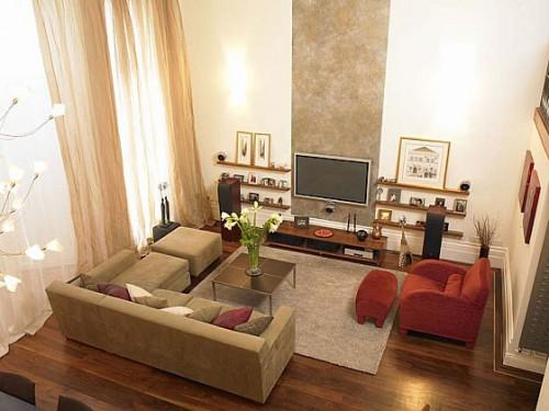 Hình ảnh bài trí bộ ghế sofa phòng khách nhỏ trong không gian phòng khách gia đình
