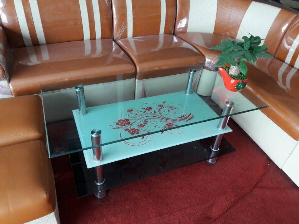 Hình ảnh cho mẫu bàn trà giá rẻ kính 3 tầng đẹp hiện đại