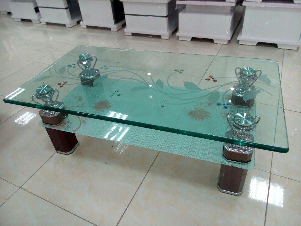 Hình ảnh cho mẫu bàn trà kính đẹp cho không gian phòng khách hiện đại