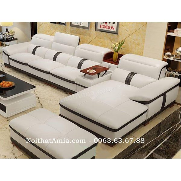 Hình ảnh mẫu ghế sofa đẹp da chữ L