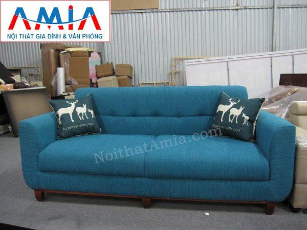 Hình ảnh cho ghế sofa nỉ dạng văng đẹp hiện đại thiết kế rút khuy