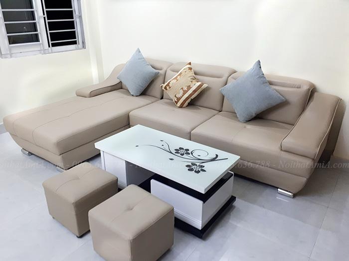 Hình ảnh Bộ ghế sofa da phòng khách đẹp gia đình