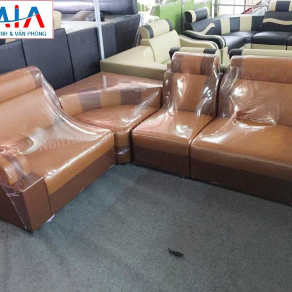 Hình ảnh cho mẫu ghế sofa da góc giá rẻ AmiA SF120 đẹp hiện đại và sang trọng