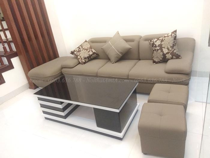 Hình ảnh Bộ ghế sofa văng đẹp bài trí trong phòng khách gia đình