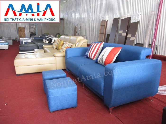Hình ảnh cho mẫu ghế sofa văng nỉ đẹp 2 chỗ AmiA SFN104 đẹp hiện đại