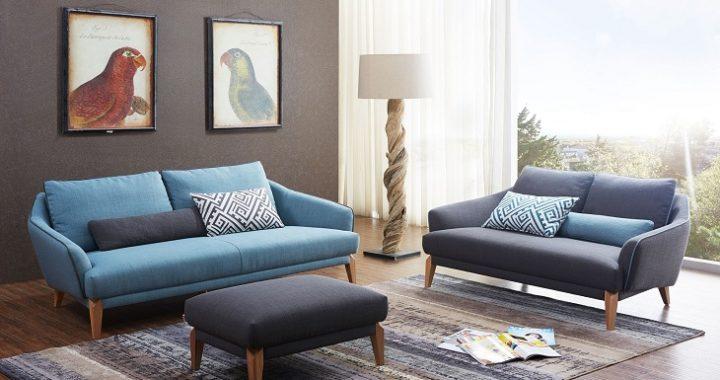 Cách phối hợp màu sắc cho mẫu bàn ghế sofa phòng khách nhỏ