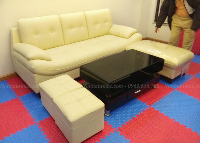 Hình ảnh Ghế sofa đẹp dang văng 3 chỗ hiện đại và sang trọng