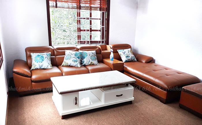 Hình ảnh Mẫu ghế sofa đẹp góc chữ L cho căn phòng khách đẹp