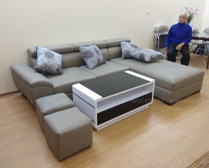 Hình ảnh Ghế sofa đẹp phòng khách kết hợp bàn trà sofa đẹp