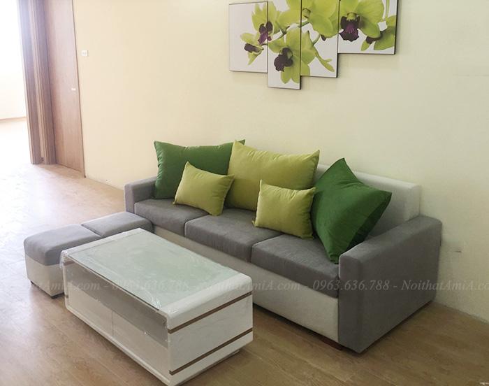Hình ảnh Ghế sofa đẹp văng nỉ 3 chỗ cho căn phòng khách nhỏ hiện đại