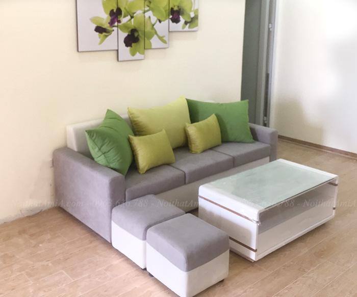 Hình ảnh Ghế sofa văng đẹp 3 chỗ bài trí trong căn phòng khách gia đình