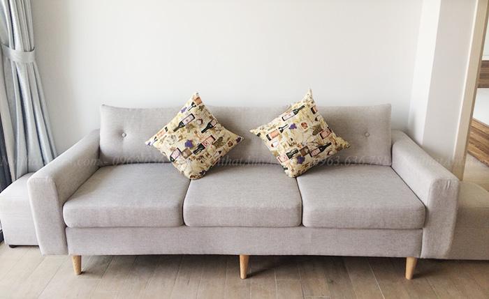 Hình ảnh Ghế sofa văng đẹp 3 chỗ chụp thực tế tại phòng khách nhà khách hàng